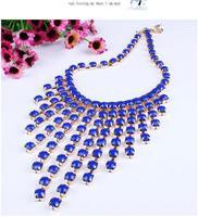 2014 Europe and America brand joker resin tassel big pendant&necklace for women