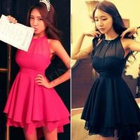 Wholesale 2014 New Fashion Bandage Runway Dress Mint Maxi Lolita Women Novelty Cute Lace Dresses Peplum Party#NB220