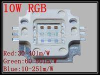 10pcs/lot 10W RGB Power LED 35mil Chip 1050mA