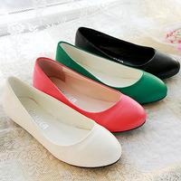 Fashion Round Toe Plain Solid Slip-on Women Flats Plus Size 34-47 Women Casual Autumn Flat Shoes Ladies Ballerinas Shoes Woman