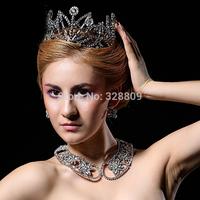 New Arrival luxurious rhinestone Queen crown bridal diadem Princess crystal  perfect bridal tiaras wedding  dress accessories