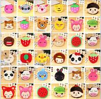 Free shipping super cute creative cartoon animal plush zipper change purse small coin bag toy gift 10 pcs a lot