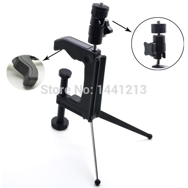 Camera Tripod Free Shipping Mini Portable Flexible Swiveling Desktop Clamp Tripod Stand Spider for Camera Camcorder DSLR SLR(China (Mainland))