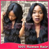 Cheap Long Peruvian Body Wave Wig 150% Human Hair U Part Wigs Celebrity Wigs All Virgin Hair UPart Wig For Women