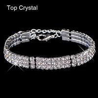 New hot sell gold / silver plated Austrian crystal brand jewelry Multi-chain rhinestone bracelet women wedding Jewellry 2014 M16