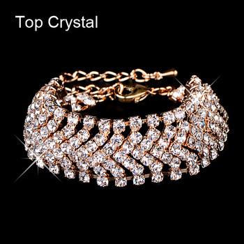 Бренд дизайнер новый горячая распродажа очаровательная невеста свадебные кристалл ...