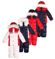 Foreign trade in boys and girls thick velvet collar coat down sets padded clothes winter outwear children down ski suits