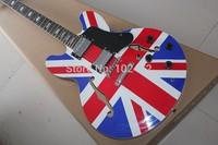 Classic  F-hole ES335 Jazz Electric Guitar British flag electric guitar