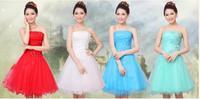 4 color women wedding evening dress 2014 new fashion women bridesmaid dress Short paragraph party dress women S-XXL