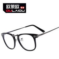 The 9298 metal flat mirror to men and women retro fashion Korean big glasses 2014 square glasses