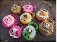 NEW 2014 women plush Cartoon handbag,Children's small handbag diagonal travel package,school bag,also can be baby plush toy.