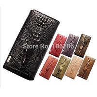 2014 Crocodile 3D Purses New Genuine leather purse for women Crocodile 3D purses and  fashion leather wallets 10 color
