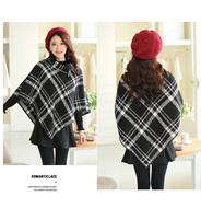 Women Designer Vintage Plaids Short Jackets Noble Cloak Fashion Cape Free Shipping fz2646