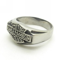 Wholesale Price+Free Shipping, Gothic Silver Plated Motorcrycles Rings For Men Biker Motorbiker HD Stainless Steel Jewelry