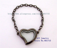 solid zinc alloy round Gun black 1pcs 30mm Living Floating Charm Memory Locket bracelet as gift without floating charms