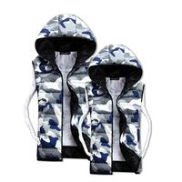 2014 Hot Sale Male Veste Winter Casual Waistcoat Plush Size Vest Homme Sleeveless Jacket Clothing