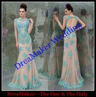 vestido de noiteTVB321DreaMaker Girls Formal Dresses Luxury Sexy Pure Hand Beaded Open Back Lace Long Evening Dress Fashion