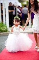 fashion real designer christmas krikor-jabotian scoop white bride ball flower girls dress for weddings RTT-0462