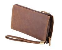 2015 New Men's handbags Genuine Leather Clutches Vintage Crazy horsehide bag for men Cool Men clutches