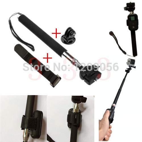 Go pro Accessories Gopro Handheld Monopod Tripod Mount Adapter+ WiFi Remote Belt / Band / Velcro Strap Mount For GoPro Hero3 3+(China (Mainland))
