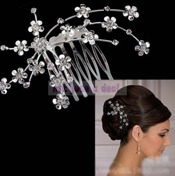 Bride Plate Made Supplies Wedding Party Bridal Starry Rhinestone Hair Comb Tiara Accessories(China (Mainland))