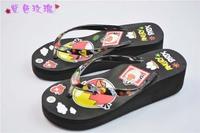 2014 fashion sandal and slippers woman platform flip flops slippers shoes soled slippers women high sandals flip-flops