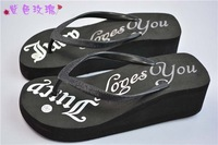 Summer sandal and slippers woman platform flip flops slippers shoes soled slippers women high sandals flip-flops
