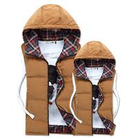 New Arrival  Winter Casual Waistcoat Cotton Male Vest Coat Thicken Warm Outdoor Jacket Coat Plush Size XXL XXXL
