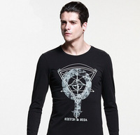 Free shipping 2014 wholesale SI men's long sleeves t shirts,  5 island colors, big size