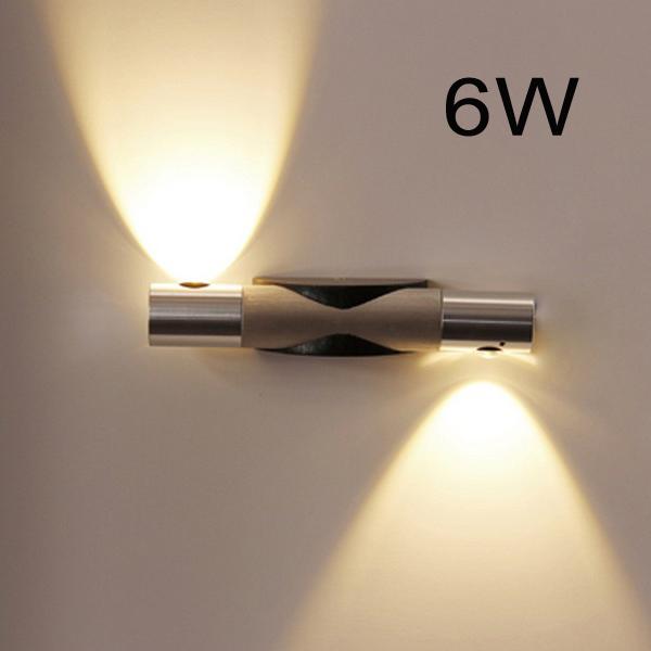 6W Modern Aluminum LED Wall Lights bulb lamp 85-265V home decor restroom bathroom bedroom reading wall lamp hotel lamp lights(China (Mainland))