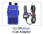 UV-5R (BLUE) UU BAOFENG Radio+Car Adaptor
