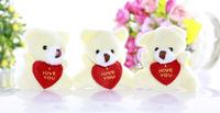 6.5 cm Mini Teddy Bear Soft Joint Stuffed Bear Wedding Decoration Doll Cartoon Toy Can Sit Plush Bear40Pcs / lot Promotion