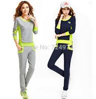 Hot sale 2 colors women brand clothing set,comfortable woman tracksuits sport suit women brand jogging suits for women