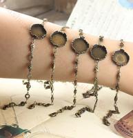 10PCS /The whole entire copper Green ancient 15mm Crown Fancy care Bracelet accessories 5 models