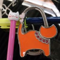 Lovely Cute Cat  Metal Foldable Women Handbag Hangers Purse Hook Handbag Hanger Women handbag holder Nice Gift for Her