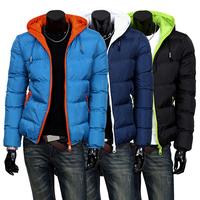 2015 new mens winter jacket men's hooded wadded coat outerwear male slim casual cotton outdoors outwear down jacket MF-8534