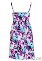New Bohemia Beach Dress Floral Slip Dress Medium style