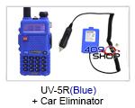 UV-5R (BLUE) UU BAOFENG + Car Battery Eliminator