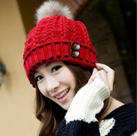 Sweet Autumn And Winter Women's Knitted Hat + free shipping