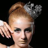 Luxurious  Raschig dance round crown  Princess crystal bridal diadem silver bridal tiaras wedding  dress accessories