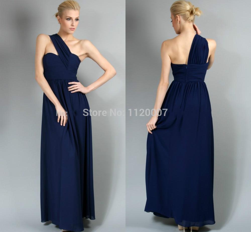 Navy blue plus size bridesmaid dresses