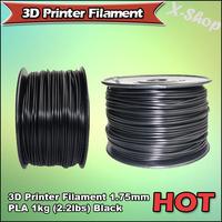 X-SHOP Free Shipping X! 3D Printer Filament 1.75mm PLA 1KG Black