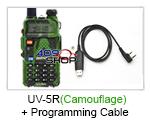 UV-5R (Camouflage) UU BAOFENG Radio+USB Prog Cable