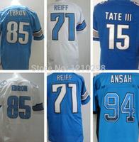 Mix Order 15 Golden Tate Jersey Blue Elite 85 Eric Ebron Jersey White 71 Riley Reiff Jersey Fashion 94 Ezekiel Ansah Blue Hot