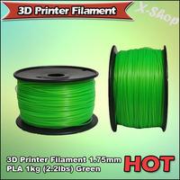 X-SHOP Free Shipping X! 3D Printer Filament 1.75mm PLA 1KG Green