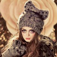 2014 Winter Warm pearl net yarm knitted woolen caps women's hats