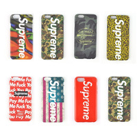 1 piece Hard Plastic Supreme Flag Phone Case Leopard Cover for iPhone 6 (4.7inch) in Retail Package,Free Shipping