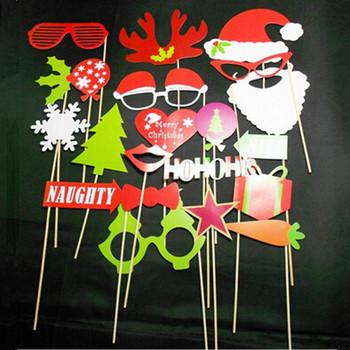 Новогоднее украшение фото стенд реквизит Hat усы на палочке на день рождения ну вечеринку весело пользу