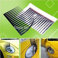 1 Pair/ 2 Pcs Of Headlight Sticker Car Eye Lash Funny Car Eyelashes For Car Headlights Lamp Lights Decoration Decals