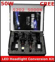 New CREE LED Headlight Conversion Kit 5202 50W 5000K 2*25Watt LEDs Lamp